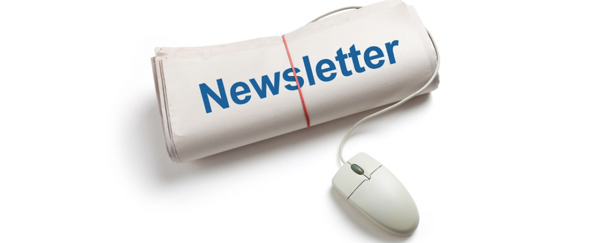 Newsletter with a mouse on it