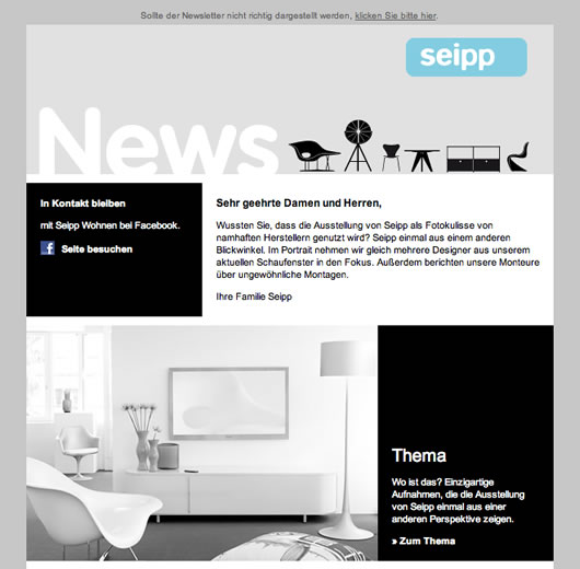 Seipp Newsletter example