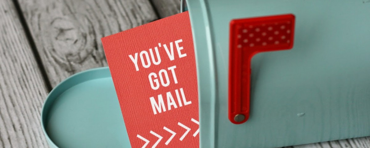 You've got mail on piece of paper