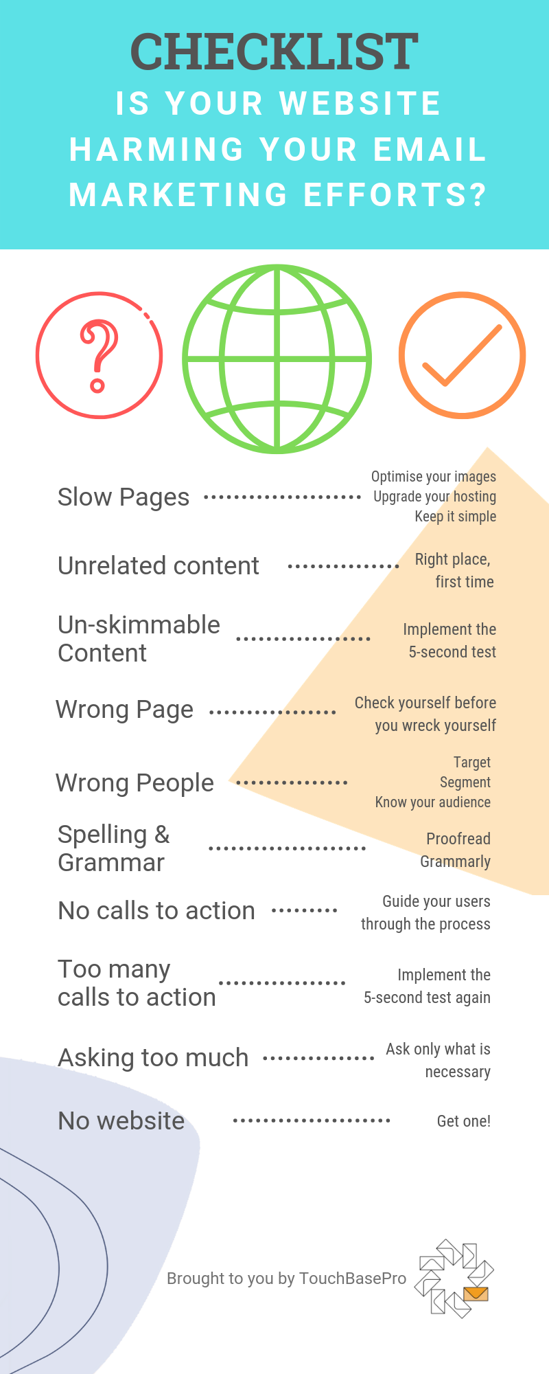 Is your website harming your email marketing? An Infographic