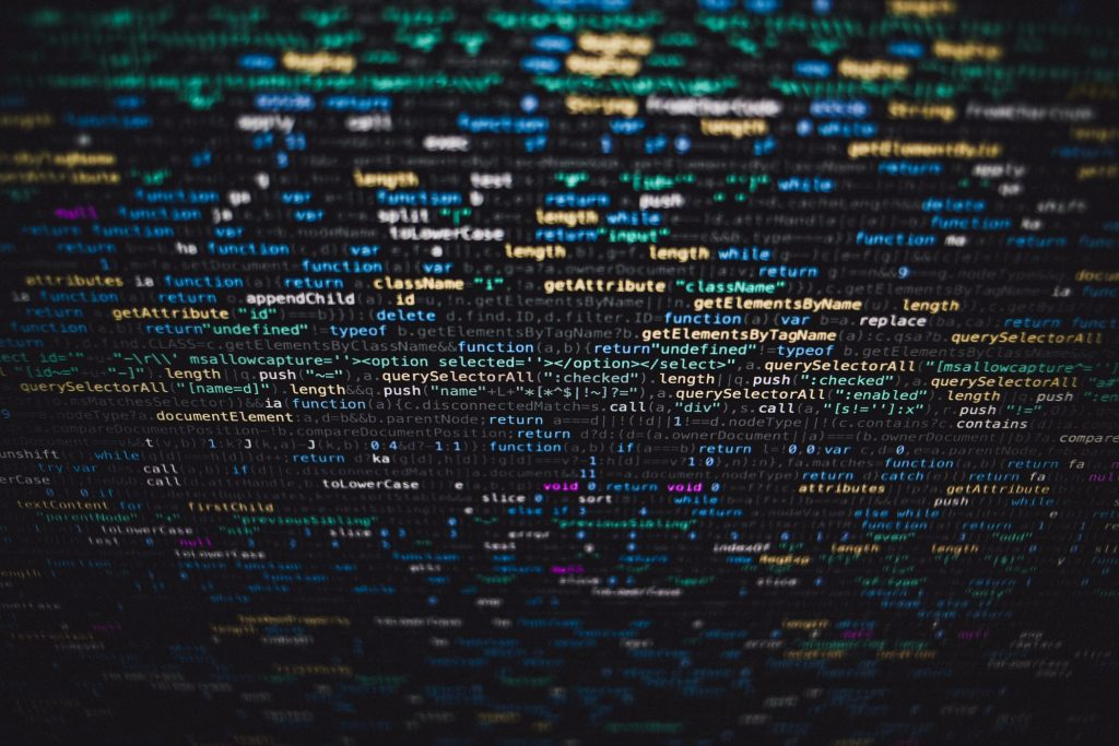 Image of code on a computer