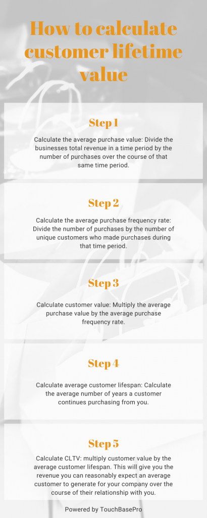 Calculate CLV infographic